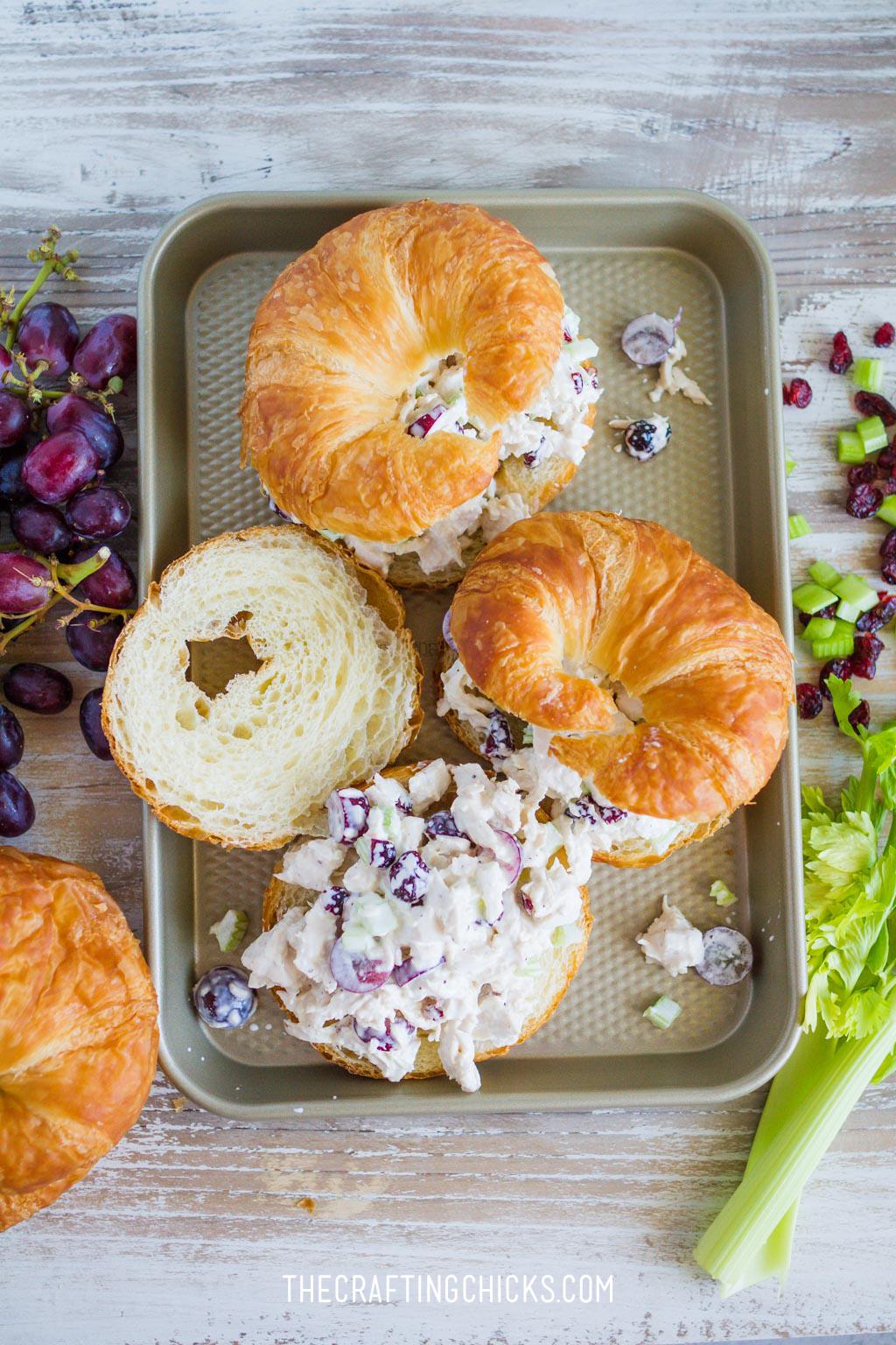 Favorite Chicken Salad Sandwich Recipe Chicken Salad Crossiant Sandwich Spring Lunch Sandwich Recipe Chicken Salad Sandwiches