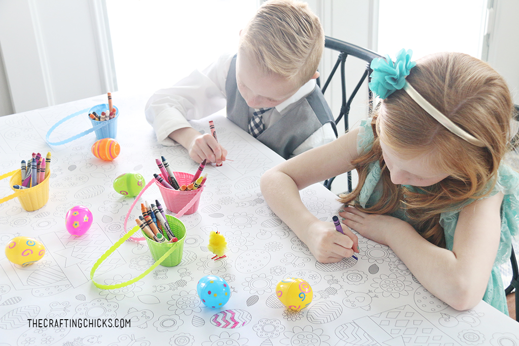 Easter Coloring Tablecloth