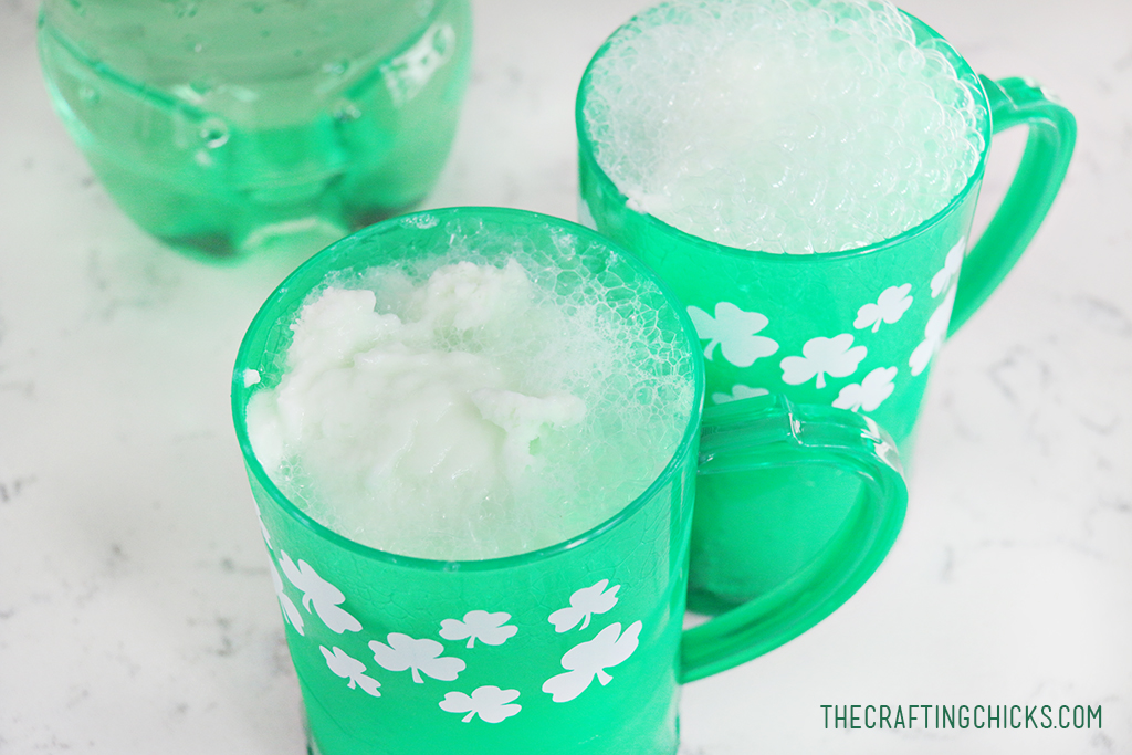 Easy Lime Shamrock Floats