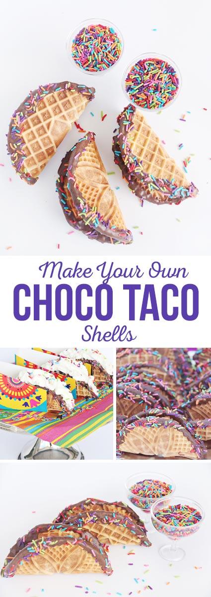 Make Your Own Choco Taco Shells