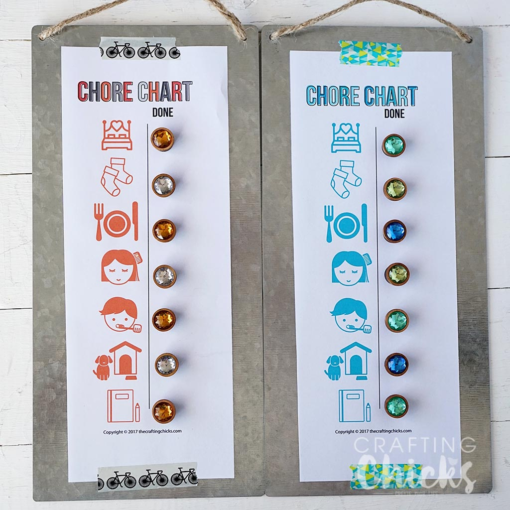 Magnetic Chore Charts for Little Kids