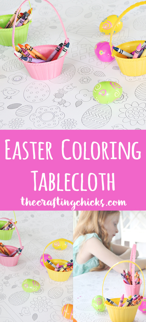 Easter Coloring Tablecloth - Make your Easter dinner lots of fun for the kids with our Easter Coloring Tablecloth. This will be a hit with everyone in your home.