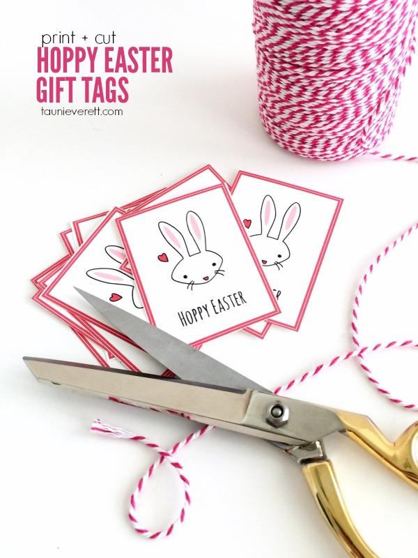 Hoppy Easter Gift Tags from TauniEverett.com