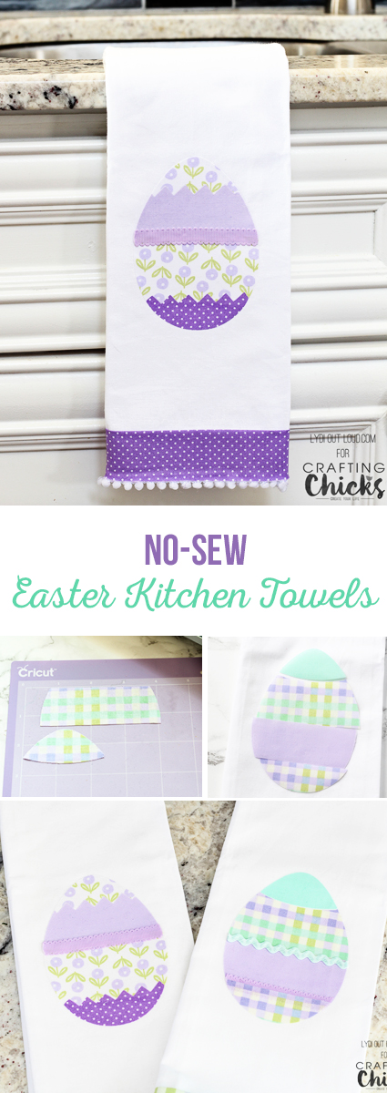 These DIY Easter kitchen towels are easy to make and require no sewing!