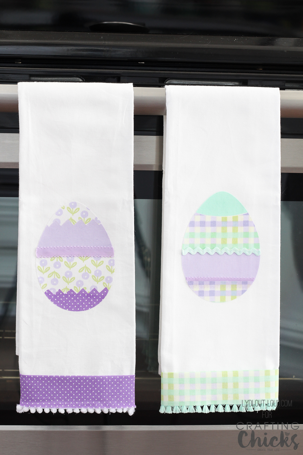 No-sew Easter Kitchen Towels