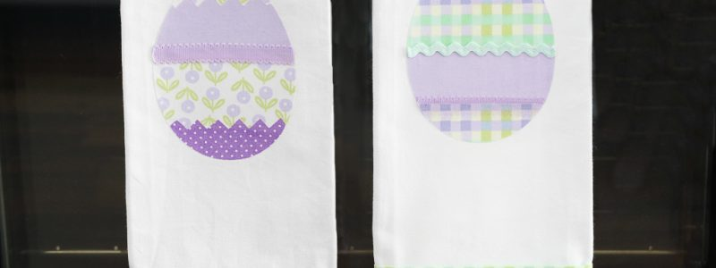 DIY No-Sew Easter Kitchen Towels