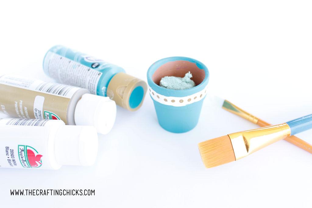DIY Painted Mini Pots