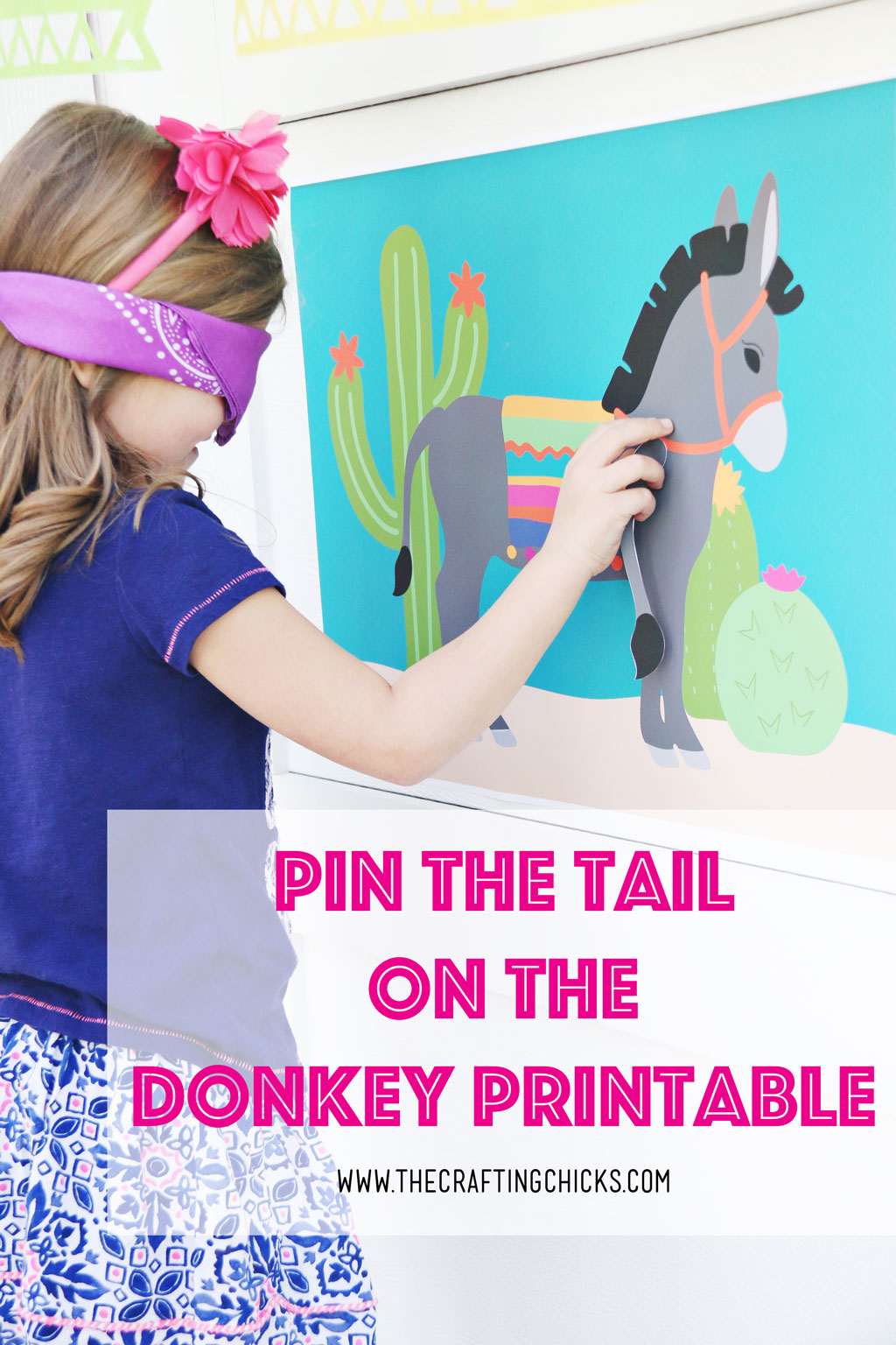 Pin The Tail on the Donkey perfect for a Cinco de Mayo Party