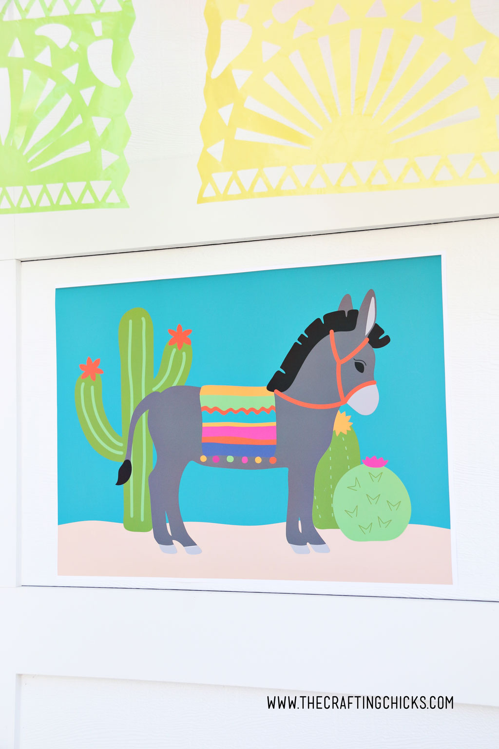 Pin the tail on the donkey game for a party
