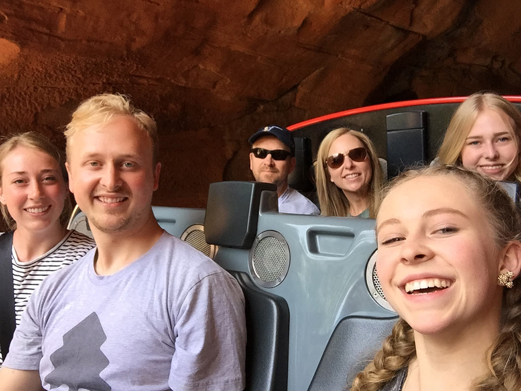 Teenagers at Disneyland on Radiator Springs Racers