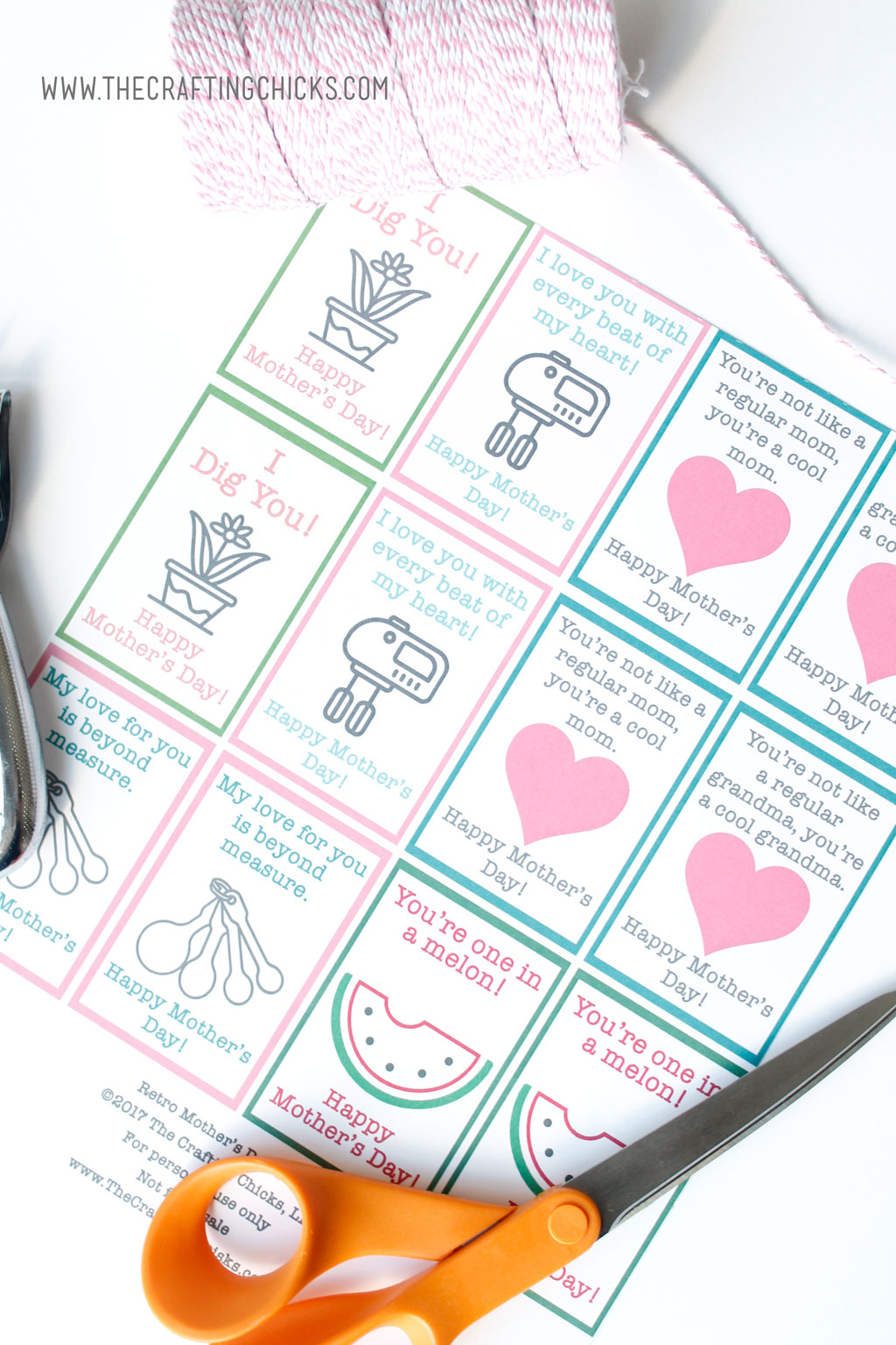 Retro Mother's Day Tags and Gift Ideas