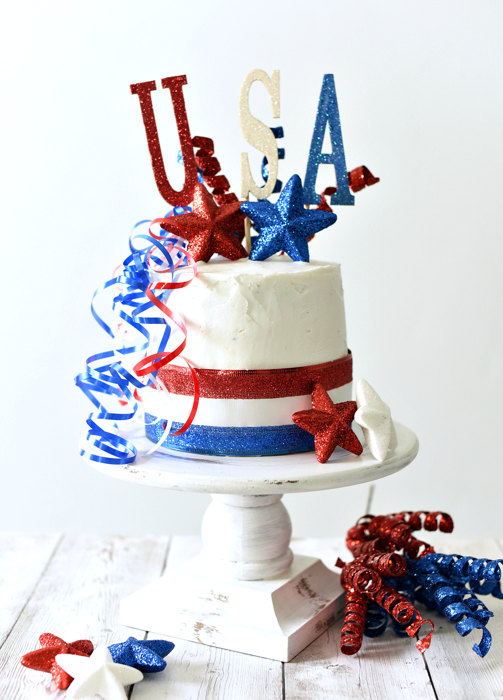 Patriotic Cake for the 4th of July