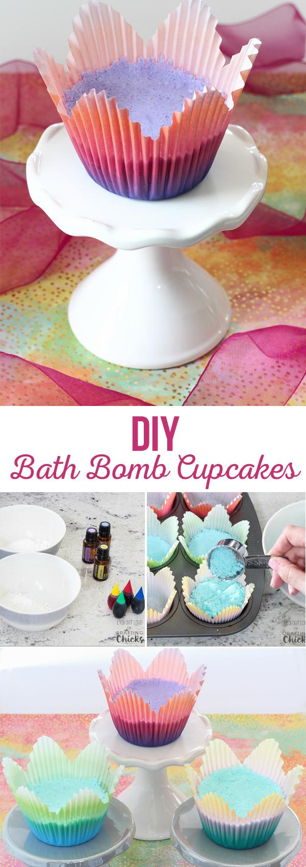 DIY Bath Bomb Cupcakes