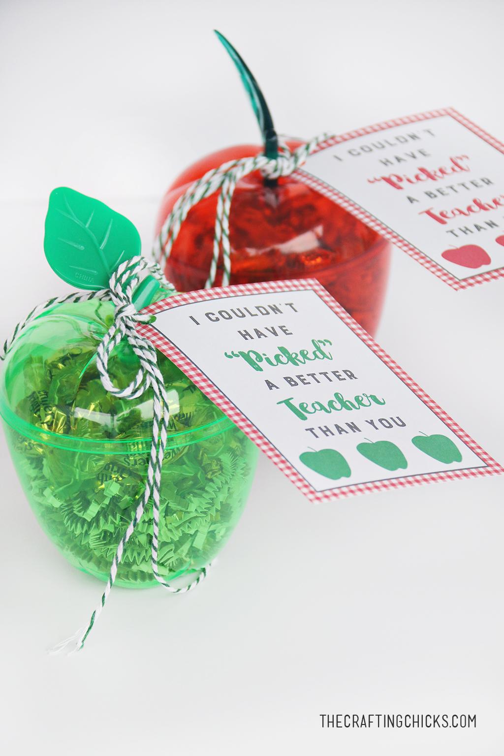 Apple Teacher Gift Tag Printable