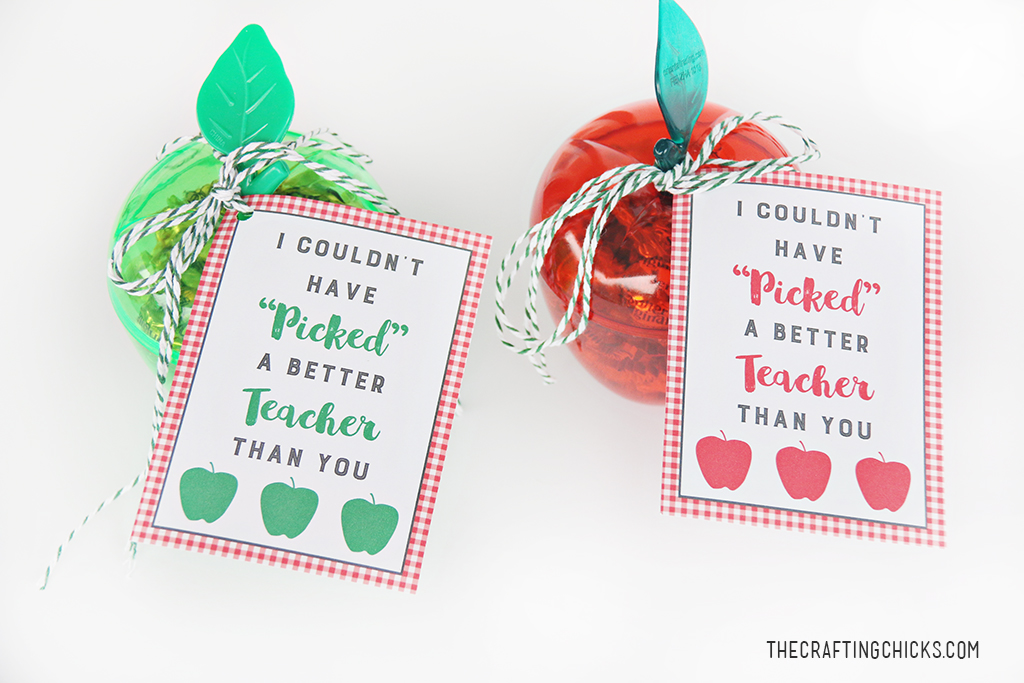 Apple Teacher Gift Tag Printable