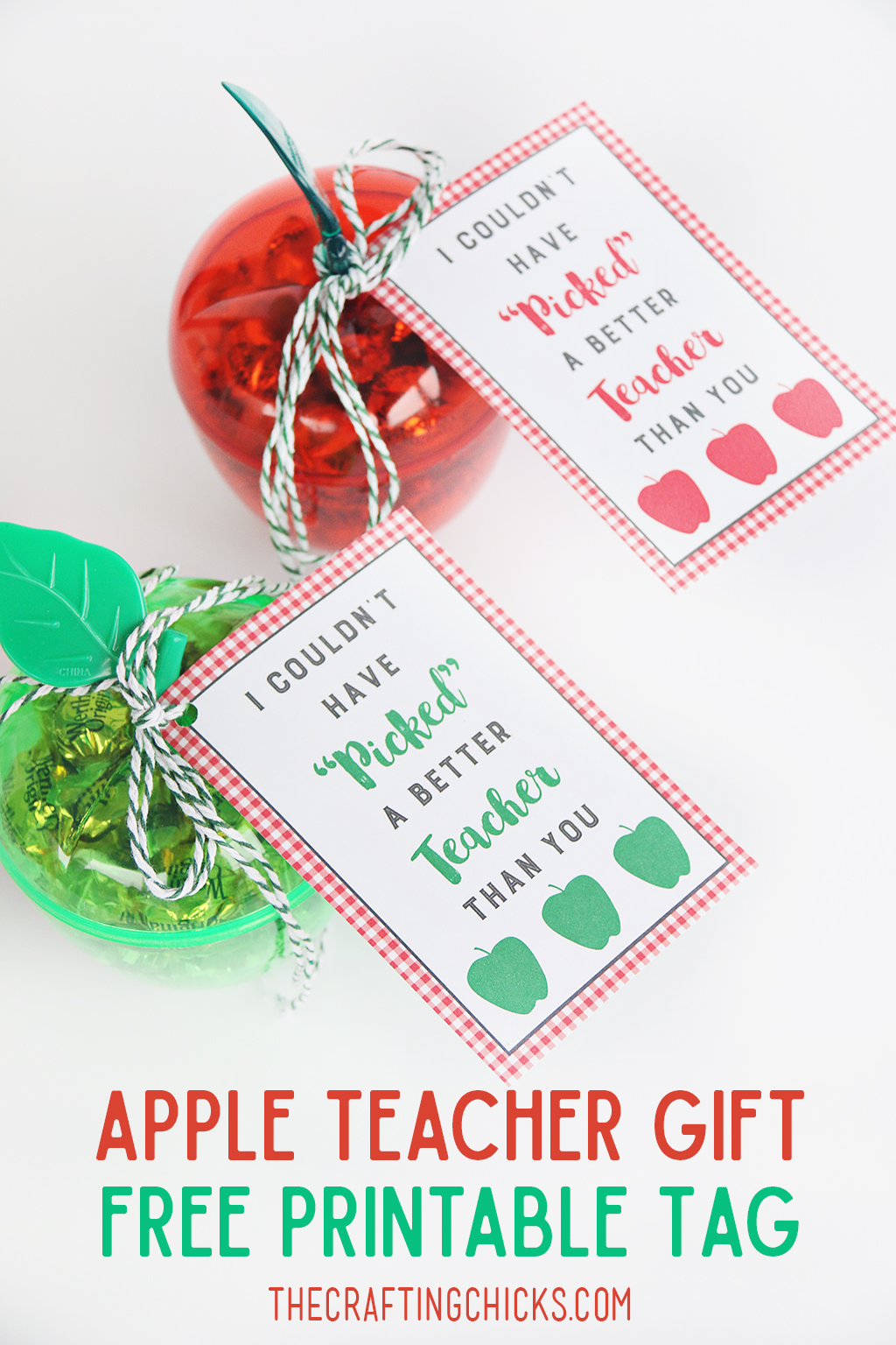 photo regarding Free Printable Teacher Gift Tags identified as Apple Trainer Present Tag Printable - The Creating Chicks