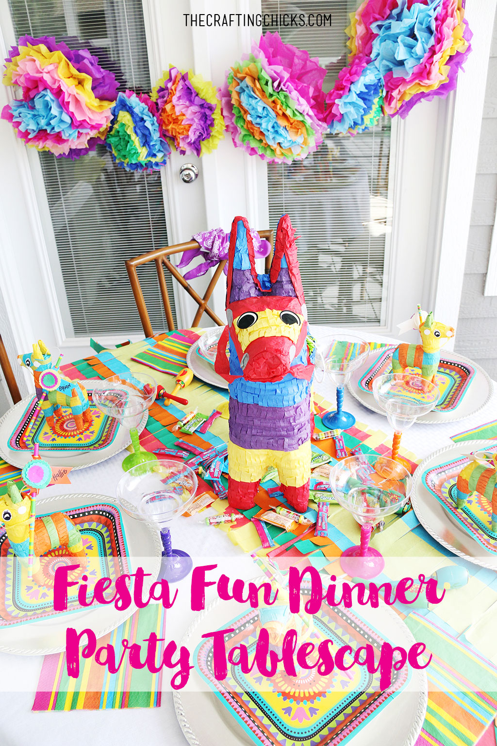 Spring Tablescape Fiesta Fun Dinner Party Tablescape The Crafting Chicks