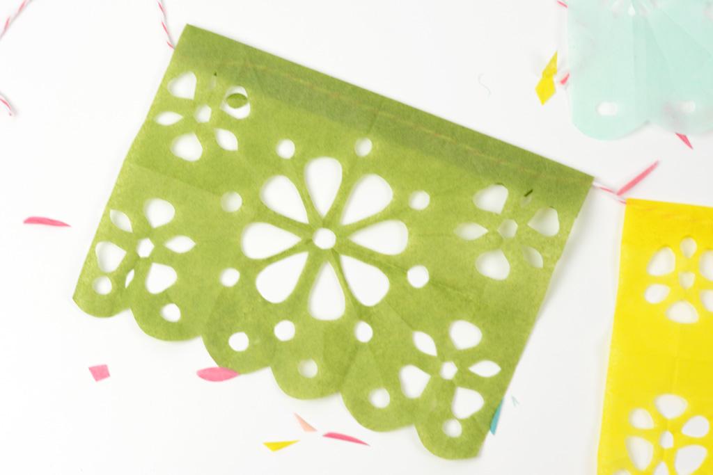 papel picado fiesta banner green