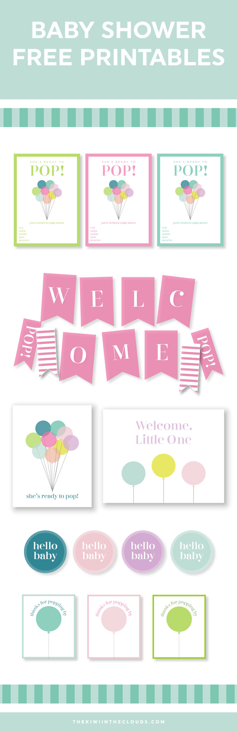 It is a graphic of Universal Baby Shower Printouts