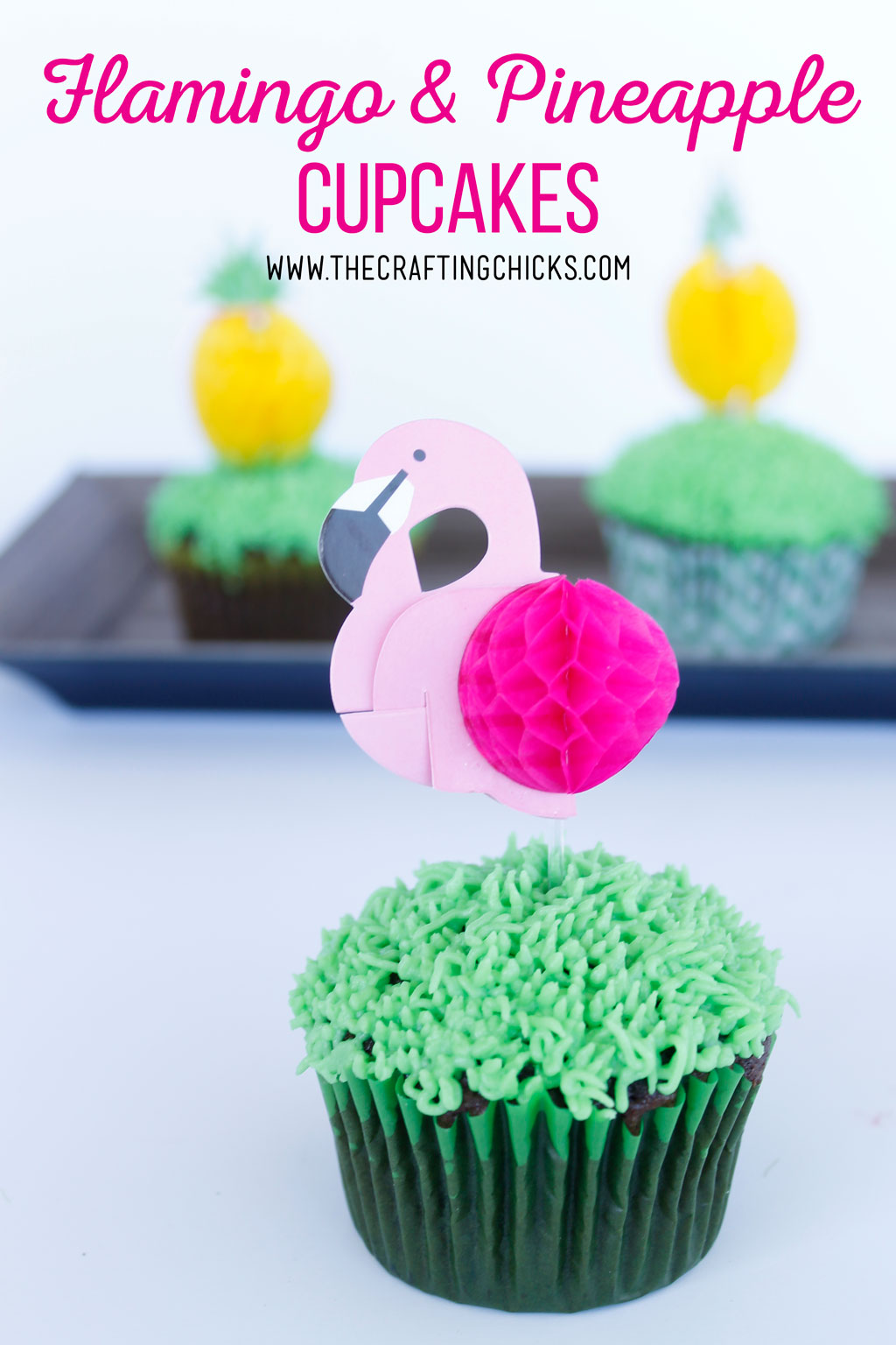 Flamingo and Pineapple Cupcakes