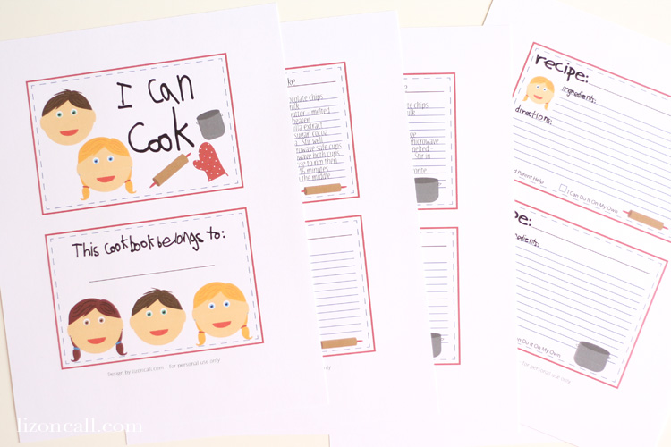 make a kid s cookbook the crafting chicks