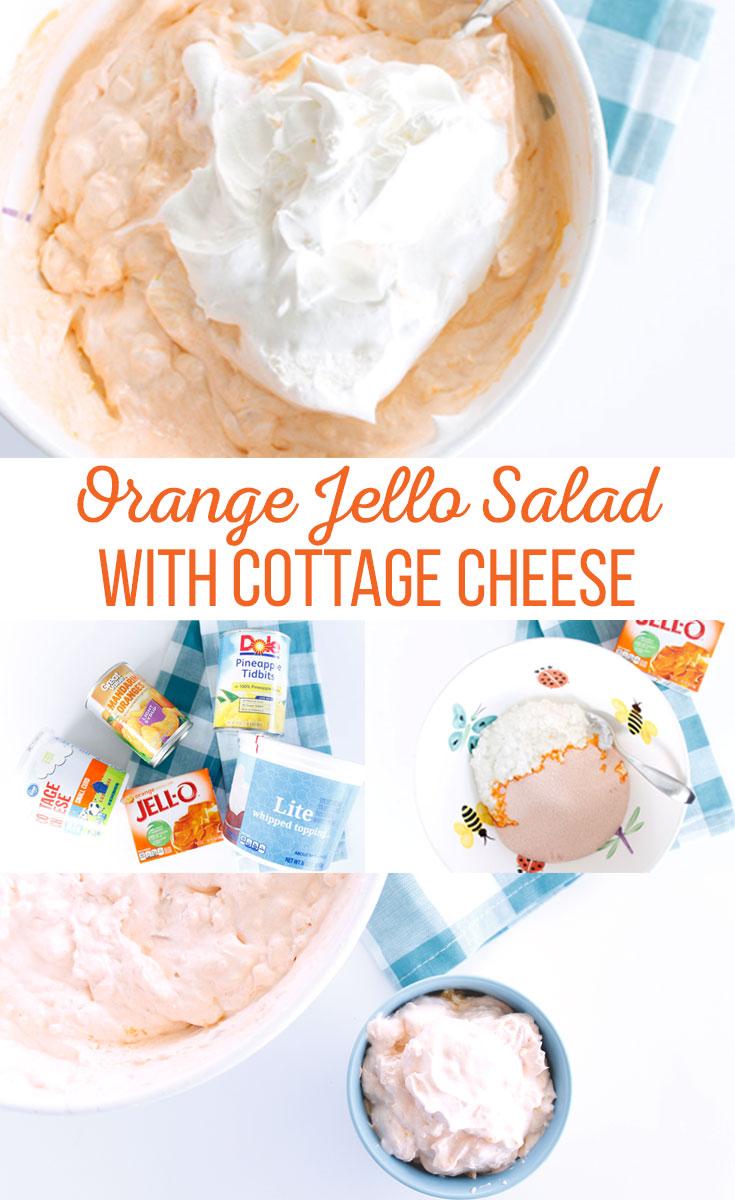 Orange Jello Salad with Cottage Cheese