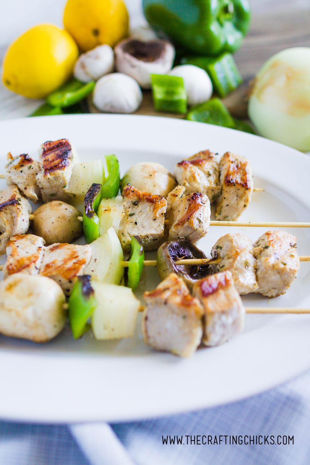 Greek Pork Souvlaki Kebabs