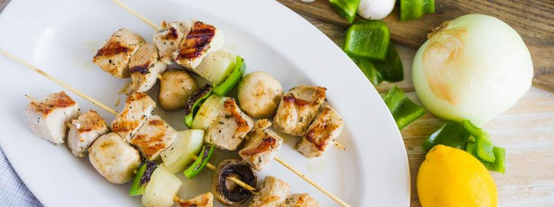 Greek Pork Souvlaki Kebabs