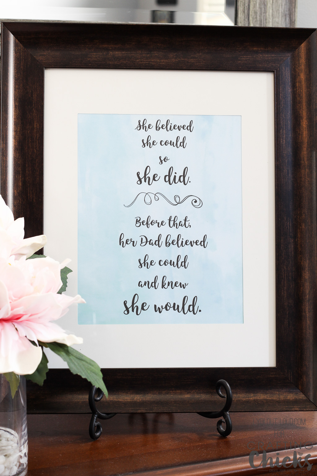 This printable art is perfect for Father's Day!