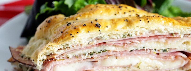 Ham and Spinach Stromboli