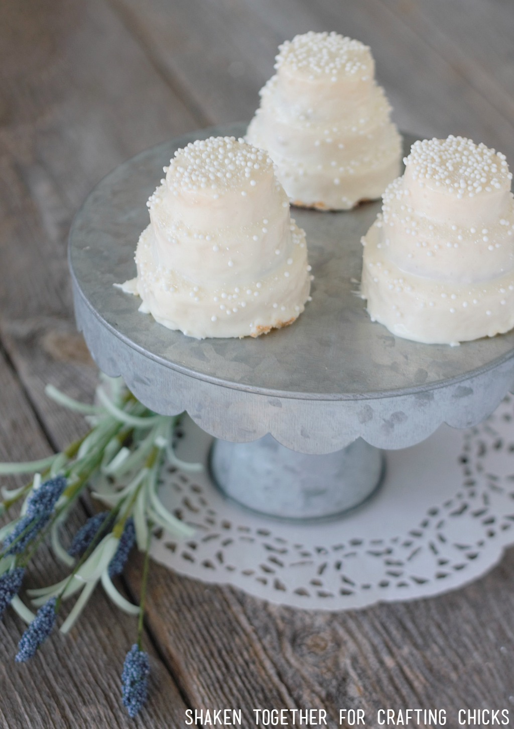 Mini No Bake Wedding Cakes The Crafting Chicks