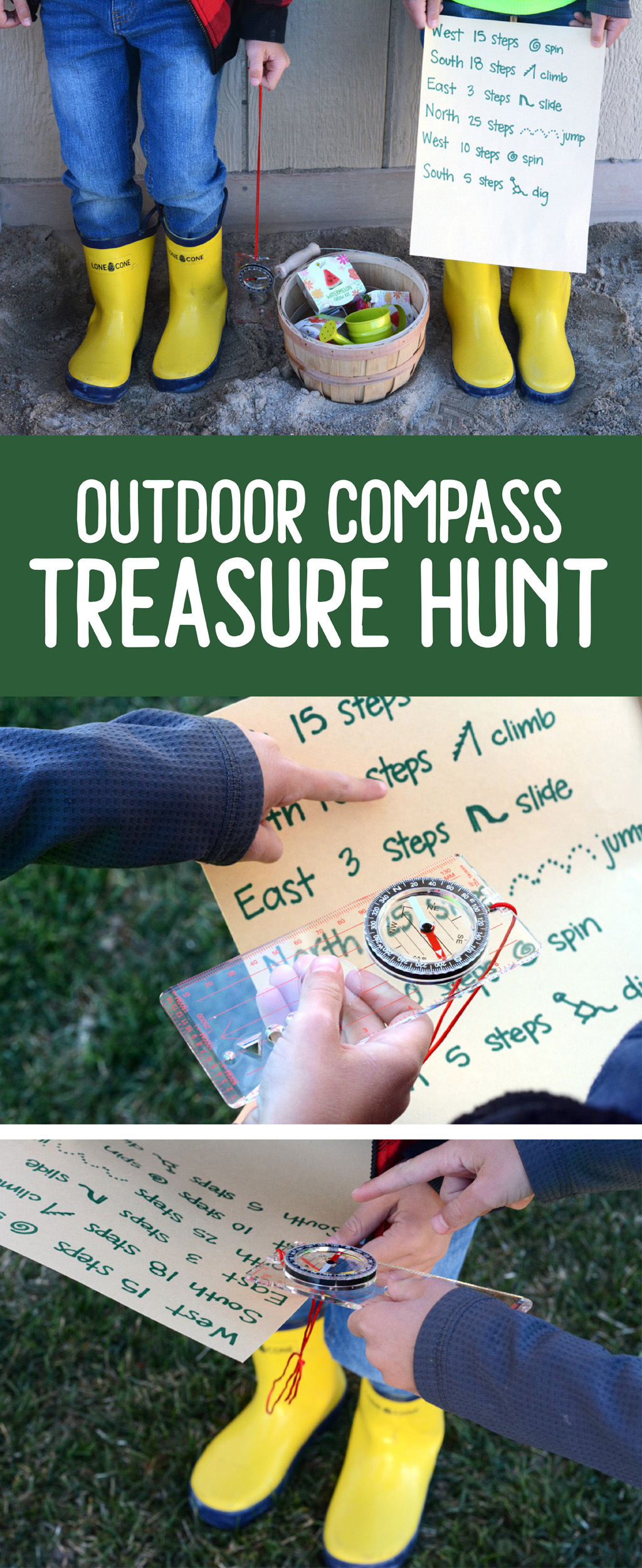 Send your kids on an adventure of learning to use a compass. Don't forget to hide the treasure filled with awesome prizes for all the kids. | Kids Activity