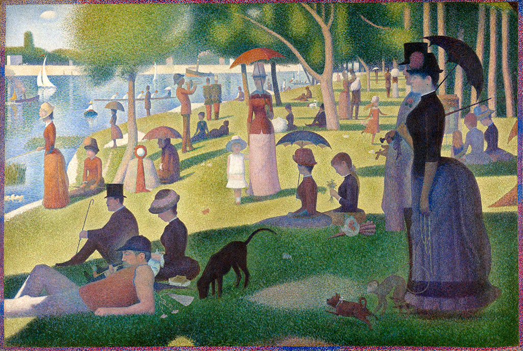 Easy Pointillism for Kids, seurat art, pointillism art, pointillism art activity, summer art