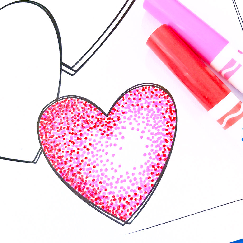 Easy Pointillism for Kids, seurat art, pointillism art, pointillism art activity, summer art