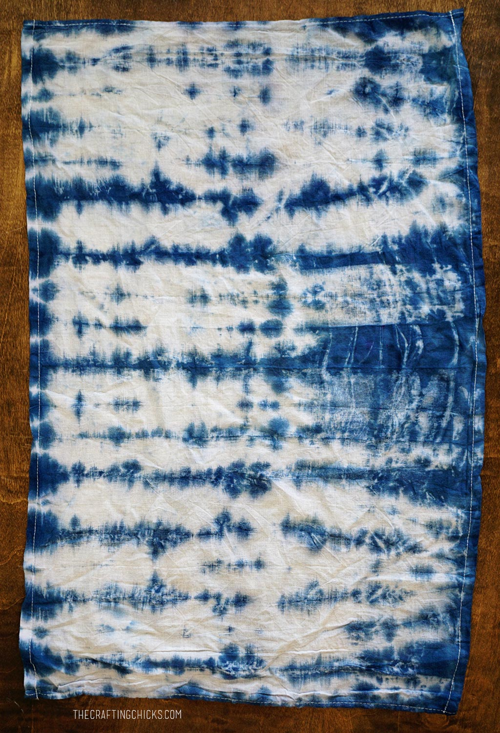 Results of rolled Shibori dyeing