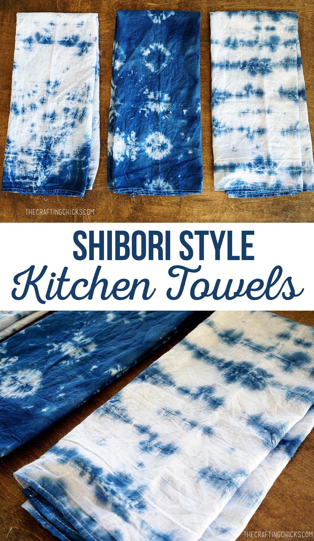 Shibori Style Towels
