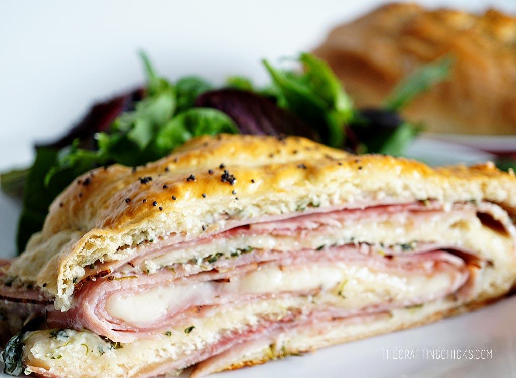 Ham and Spinach Stromboli Recipe