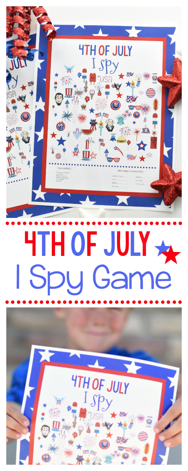 Free Printable 4th of July I Spy Game