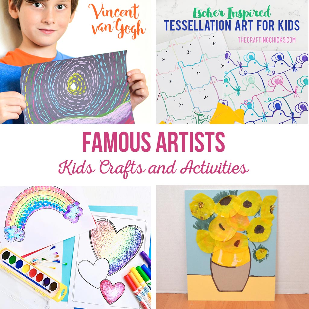 Famous Artists Kids Crafts and Activities | Teach kids about famous artists through fun activities, easy crafts and art projects.