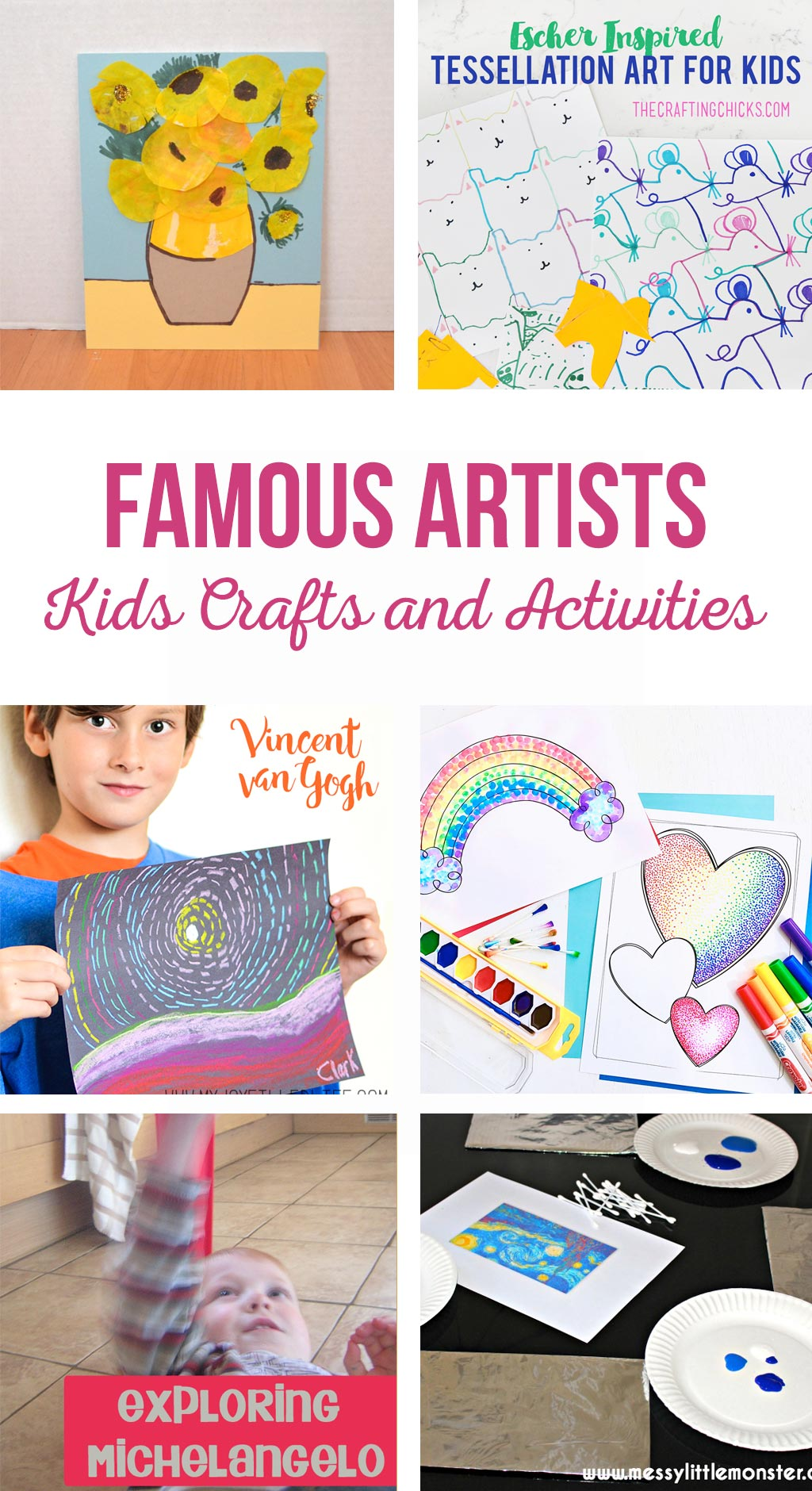 Famous Artists Kids Crafts and Activities | Teach kids about famous artists through fun activities and art projects.