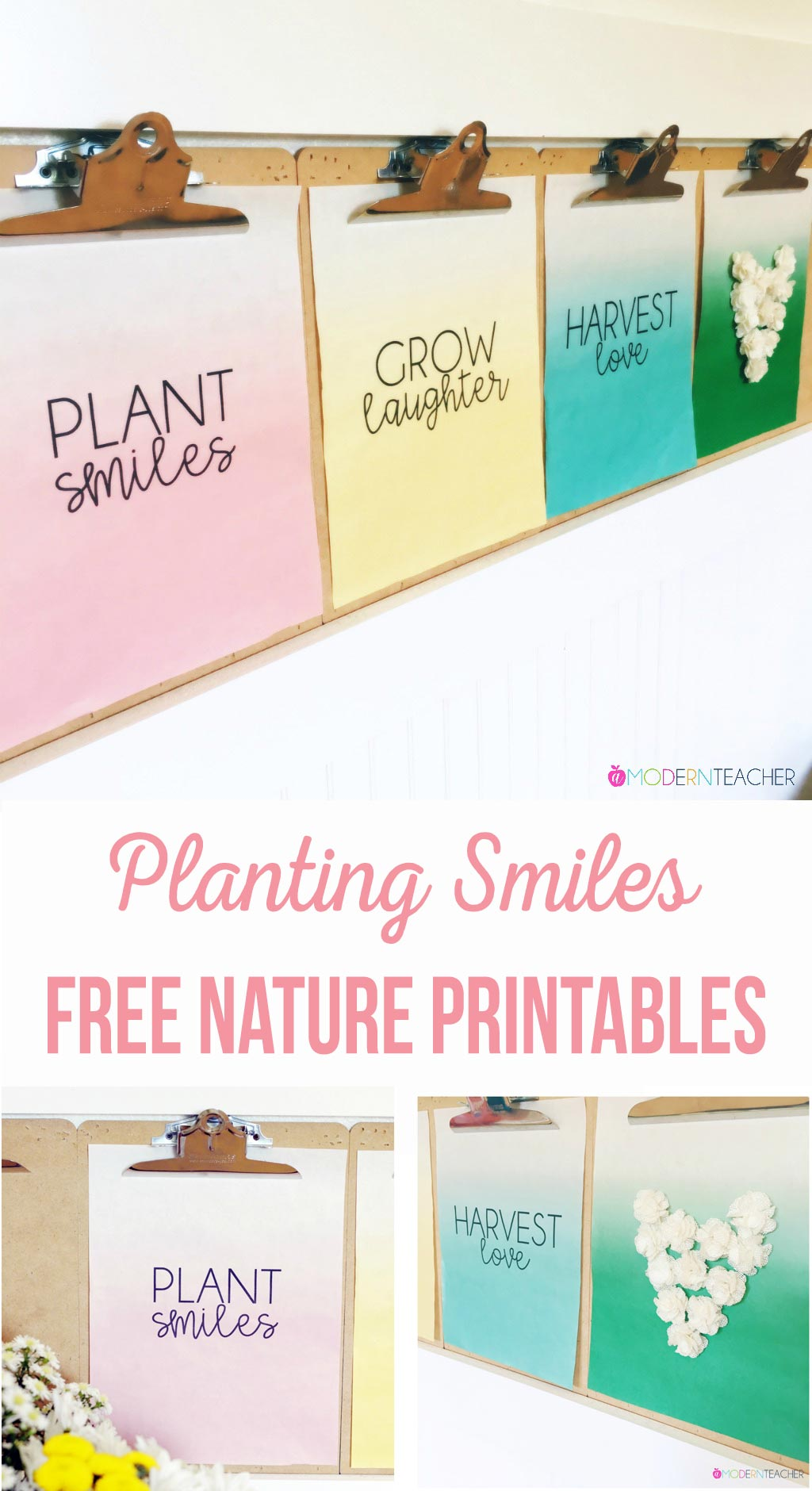 Add a little touch of nature inside with this free printable; spruce up your gallery wall for year round inspiration! Simple sayings that inspire.