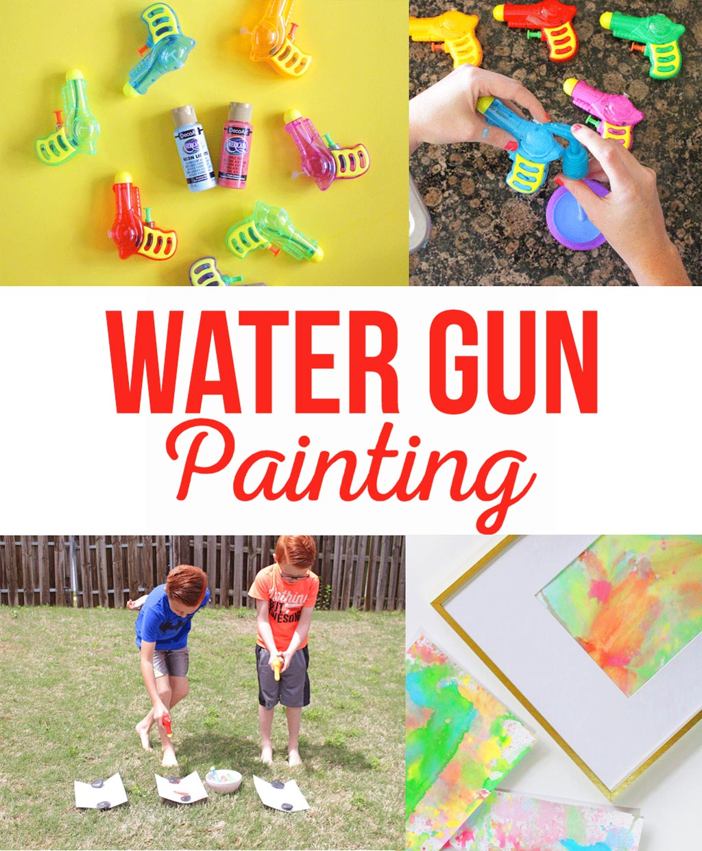 Water Gun Painting | A fun summer kids activity