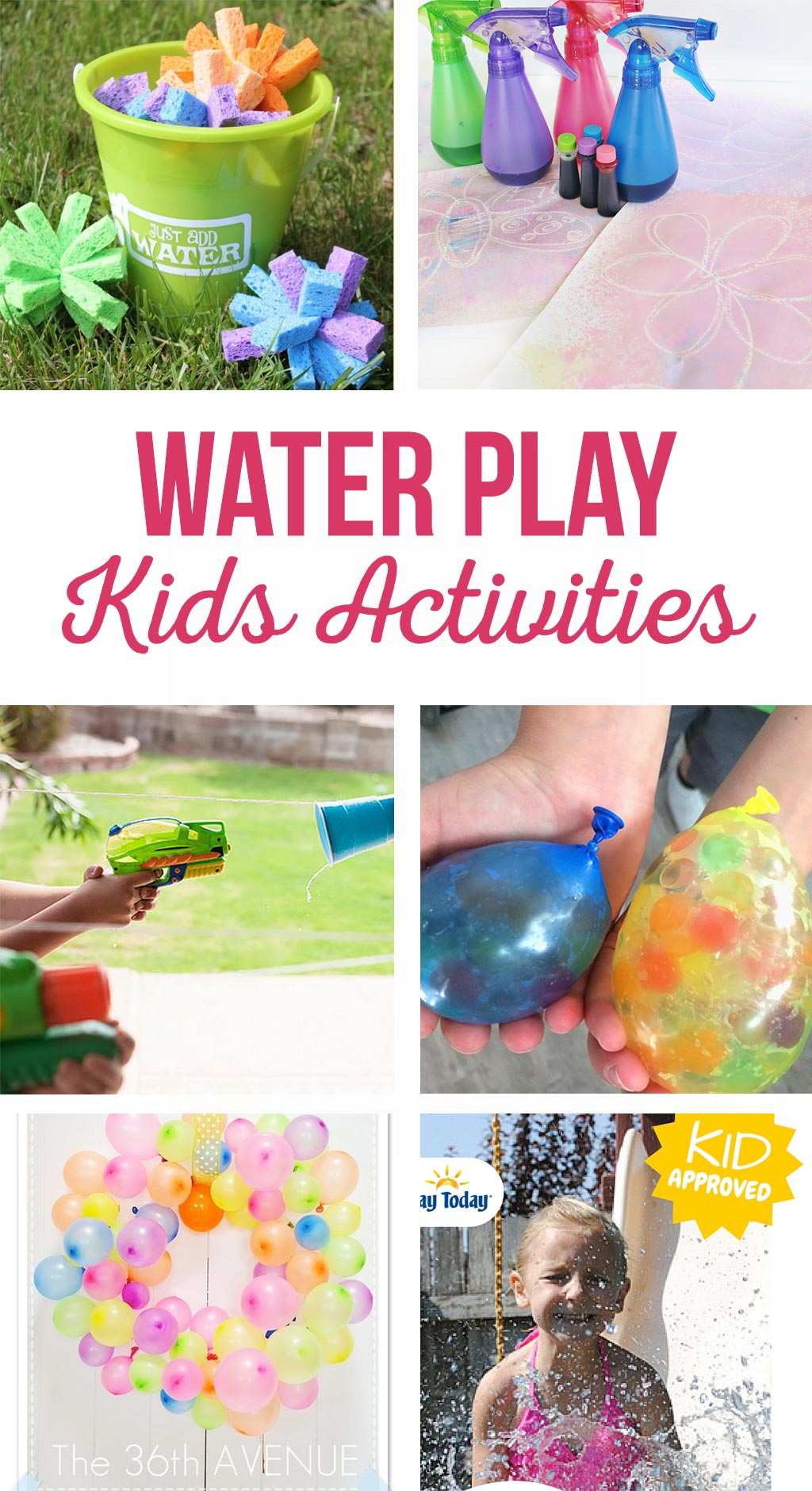 Water Play Kids Activities | Summer water games | Water balloon games, squirt gun races, and painting crafts