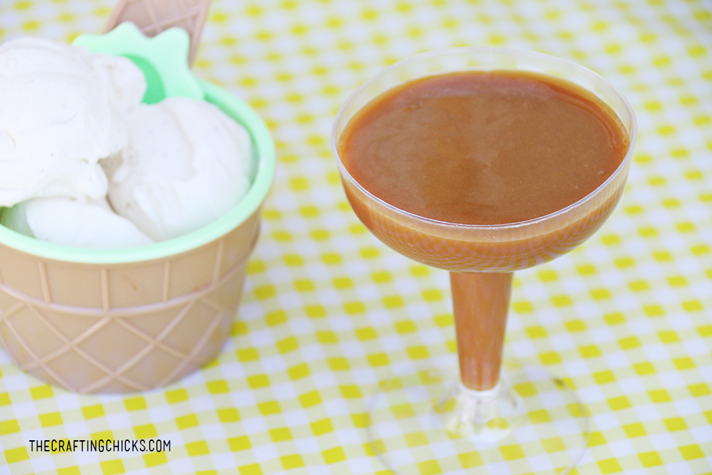 Homemade Caramel Sauce for a yummy topping at an ice cream party!