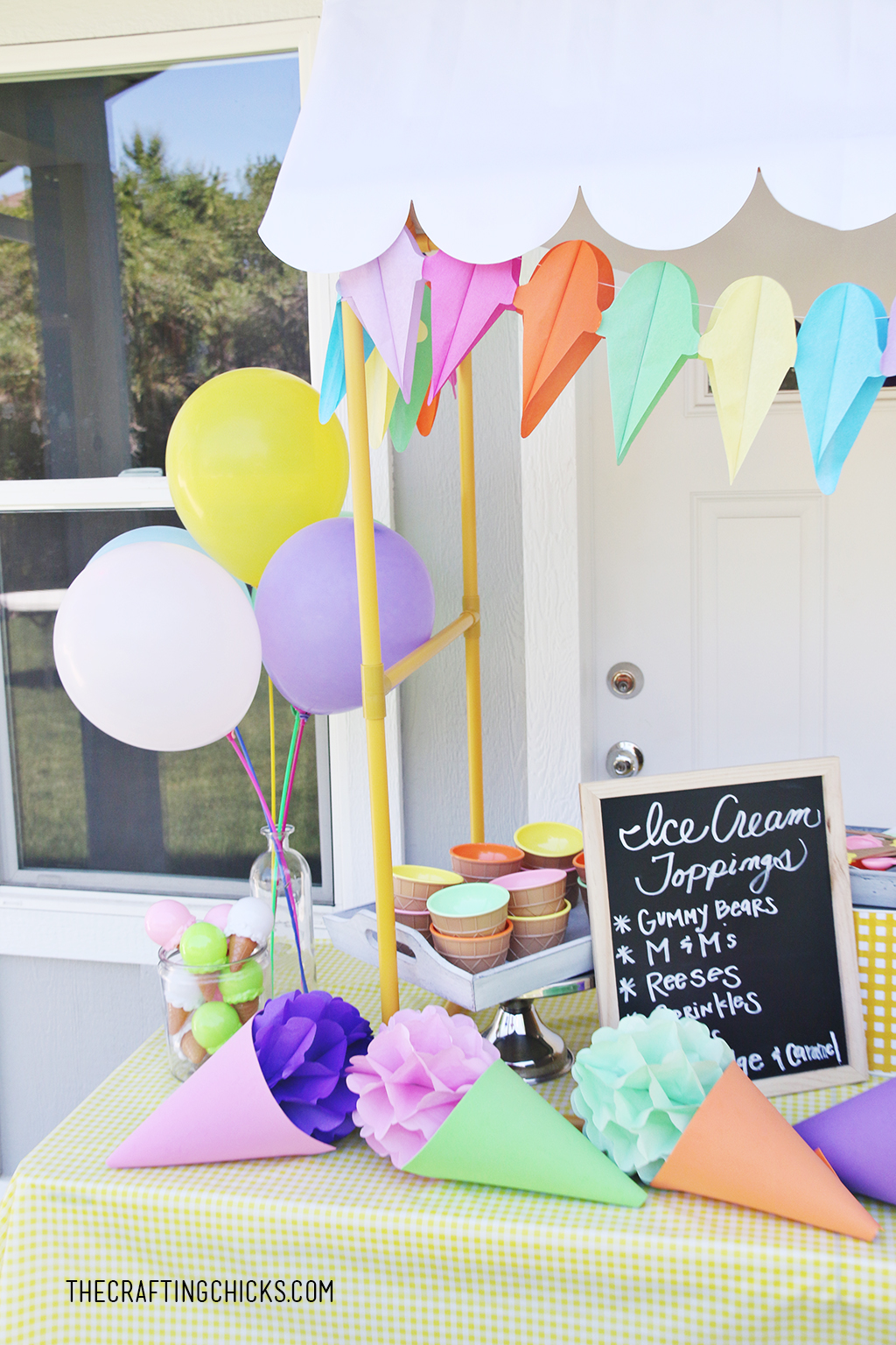 DIY Ice Cream Party Decor   The Crafting Chicks   Bloglovin'