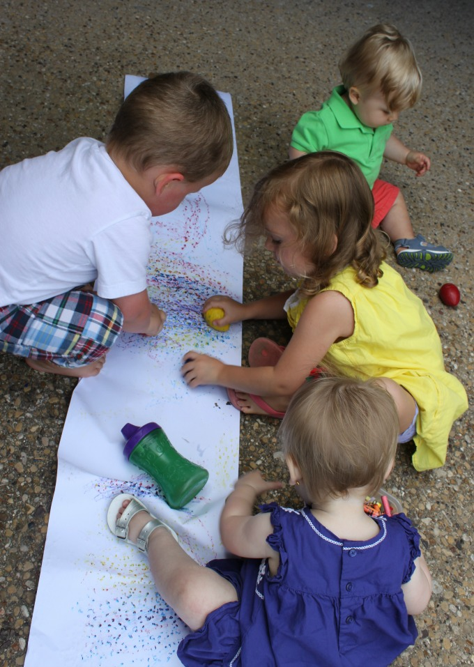Outdoor art kids crafts and activities for Creation mural kids