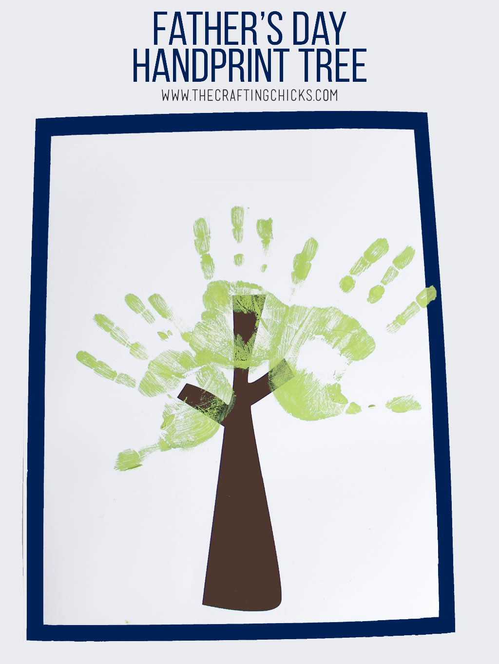 photo regarding Printable Handprint titled Fathers Working day Handprint Tree - The Creating Chicks