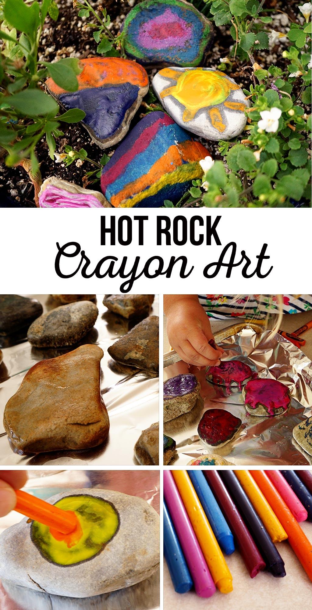 Hot Rock Crayon Art