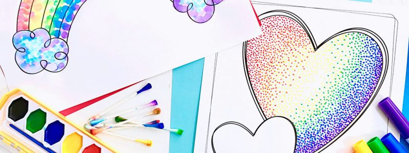 Easy Pointillism for Kids