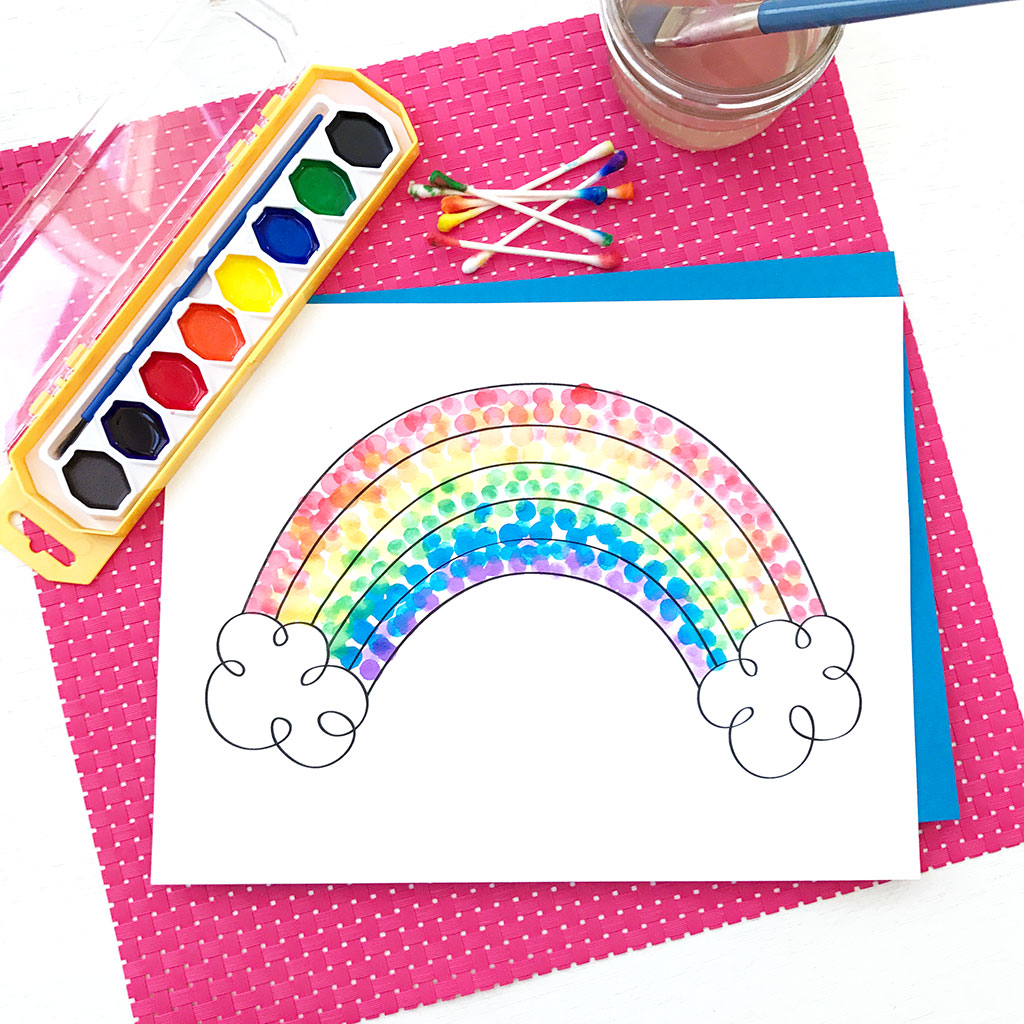 Easy Pointillism for Kids - The Crafting Chicks